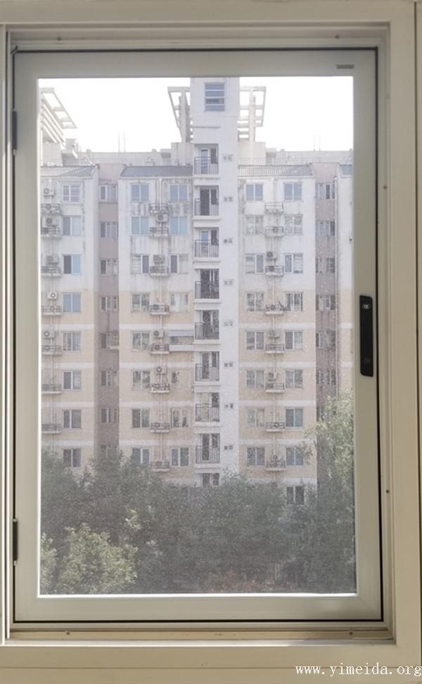 多點鎖外裝內開金剛網紗窗_兒童防護紗窗