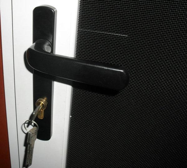 金剛網防盜紗門把手五金鑰匙