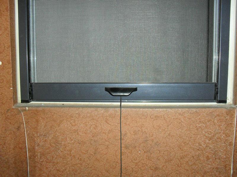 隱形紗窗開合裝置圖